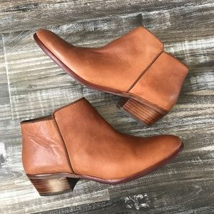 Sam Edelman Saddle Brown Petty Ankle Leather Boots